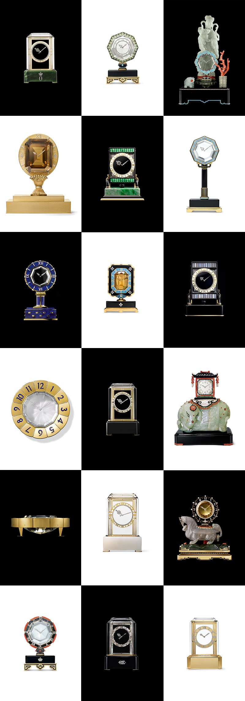 Mystery clocks in the Cartier collection
